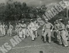 327- 5455 (Kamehameha Schools Archives) Tags: kamehameha archives ksg ksb ks oahu kapalama luryier pop diamond 1954 1955 drill team performance halftime junior varsity jv football sports punahou