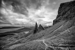 Storr (michael.mu) Tags: leica nordicvisitor scotland m240 21mm superelmarm21mmf34asph skye isleofskye storr landscape bw blackandwhite monochrome