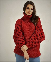Red sexy heavy turtleneck (Mytwist) Tags: girl girlfriend knitwear outfit sexy love passion wool style fashion cozy ullar retro knit turtleneck rollneck rollerneck tn tneck casual weekend authentic fetish fuzzy female grobstrick handgestrickt heavy modern ribbed slave