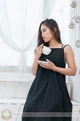 Enjoy coffee in morning (Hosting and Web Development) Tags: body beautiful black indoor nikon vietnam morning face female femininity woman white waiting thinking clothing arm asia dress hair hand cup coffee sit drink shoulder room young one portrait girl bottle deco
