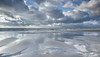 Emptiness (marielledevalk) Tags: netherlands holland weather sky clouds beach sand reflection water ocean sea blue