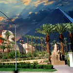 Luxor Casino - Las Vegas Nevada - Egyptian Theme - Sunset thumbnail