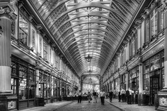 Leadenhall Market, City of London (dlsmith) Tags: monochrome monochromatic leadenhallmarket cityoflondon london market bw byn hdr photomatix leadenhall blancoynegro sonyrx100 sony rx100m3 stphotographia england