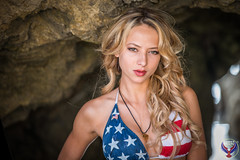 July 4th USA Flag Swimsuit Bikini Model! Pretty American Flag Swimsuit Bikini Model! Red, White, Blue USA Flag Swimsuit Model on Malibu Beach! Happy 4th of July Bikini Surf Girl! Stars & Stripes 4ever Swimsuit Model!  Nikon D800 & 70-200 F2.8 VR2 Lens! (45SURF Hero's Odyssey Mythology Landscapes & Godde) Tags: white sexy hot gorgeous beauty sexiest hottest american flag bikini usa america united states independence day red blue pretty portrait