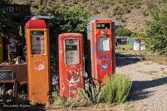 Remnants of simpler times (Lindell Dillon) Tags: vintagegaspumps memorabilia newmexico taos