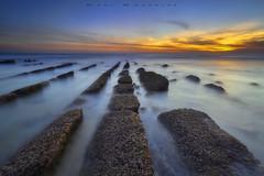 Alineadas (www.studio360fotografia.es) Tags: bolonia paisaje playa tarifa atardecer beach rocas rocks water agua colores colors sunset sol sun landscape d700 nikkor 1835g