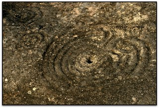 Pedra do Laberinto, Petróglifos de Mogor, Marín (Pontevedra, Galicia, España)