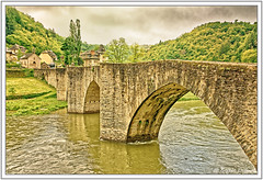 Pont sur le Lot à Estaing (GilDays) Tags: france estaing aveyron massifcentral midipyrénées occitanie rouergue village lesplusbeauxvillagesdefrance so0518 nikon nikond810 d810 pont bridge arche architecture rivière river lot eau water paysage nature vert green arbre tree maison house