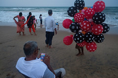 Spotted (SaumalyaGhosh.com) Tags: colors spotted people life beach india puri street streetphotography xt2 travel color balloon game family fun leisure