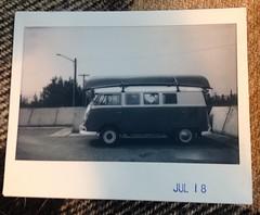 1966 VW Bus (Robert Drozda) Tags: fairbanks alaska fltse farmerslooptransferstationeast vw van volkswagen 1966 fujiinstax instaxwidemonochrome instantfilm drozda