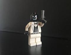 Black Mask (Lego Skeleton) Tags: lego dc black mask batman blackmask minifigure minifig custom