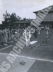 919- 5556 (Kamehameha Schools Archives) Tags: kamehameha archives ksg ksb ks oahu kapalama luryier pop diamond 1955 1956 wendy wilson lei day queen