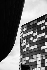 Salford Checks (Aimless Alliterations) Tags: nikond80 sigma18200mm salford uk england lancashire greatermanchester building office blackwhite urban modernist silverfxpro