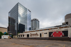 Limited Time View - Frank (-Dons) Tags: austin frank texas unitedstates downtown indeed tower parking parkinglot streetart muralart mural frankpublicart pizza trailer