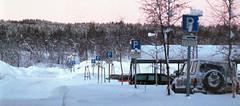 P (kebman) Tags: vinter uitø winter tromsø uit 1999 nikkormat nikkor 50mm 135mm film norway sign snow snø