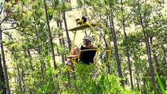 The #EcoFlyer, a patented cable #bicycle suspended at #treetop level takes riders high over the treetops http://bit.ly/2lpqgFb (Skywalker Adventure Builders) Tags: high ropes course zipline zipwire construction design klimpark klimbos hochseilgarten waldseilpark skywalker