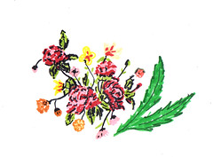 Roses (AS_hummingwords) Tags: flowers sketch bouquet rose drawing art