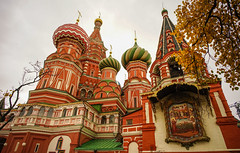 Saint Basil Cathedral in Moscow, Russia (phuong.sg@gmail.com) Tags: ancient architecture attraction background basil basilica beautiful blessed cathedral christianity church clear colorful culture cupola day destinations dome famous heritage historical landmark medieval moscow old orthodox outdoor place red religion russia saint sky square sunlight sunny temple tourism touristic travel unesco vasily vibrance view