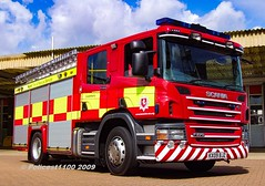 Kent Fire & Rescue Scania P270 KX09 BJZ (policest1100) Tags: kent fire rescue scania p270 kx09 bjz