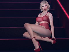 #351 - waiting for you to get home (Violet Batriani | Blogger | Model) Tags: secondlife fashion blog bento catya maitreya sensual red bra