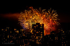 Colorful Closing (John H Bowman) Tags: canada britishcolumbia vancouver cityskylines urban fireworks nightshots july2017 july 2017 canon24704l