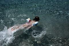 IMG_2630 (PanosKa) Tags: sea beach girl itea canoneos5d canon35mmf14l snorkeling mask dive swim swimming