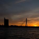 Vanšu Bridge at sunset thumbnail