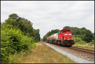 DB Cargo 6455+keteltrein 45767, Hengelo, 20-6-2018