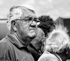 His face says it all. (Neil. Moralee) Tags: man old mature chubby glasses hair white black monochrome bw bandw blackandwhite craggy sad down dejected england football fan worldcup neil moralee olympus omd em5 sadness disapointment disapointed loss resignation candid afaceinthecrowd