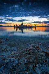 Mono Lake Sunrise (Mike Filippoff) Tags: nikonflickraward ngc monolake sunrise cloudy california tufas water sky mountail blue early calm serene surreal reflection landscape