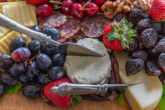 The Bounty of Summer (Jill Clardy) Tags: asr adobestock cheese fruit knife knives platter rejected silver 201705264b4a3677 strawberries grapes cherries salami figs fresh party catered caterer crackers charcuterie hor doeuvres snack nuts