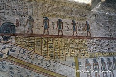 Anubis and four other gods (konde) Tags: ramsesiii 20thdynasty newkingdom valleyofthekings kv11 amduat afterlife creatures tomb hautamaalaus ancientegypt relief thebes art luxor sokar sungod hieroglyphs mythology snake anubis divinity scarab osiris netherworld