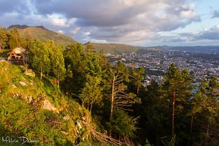Bergen - Fløyen Mountain. Norway