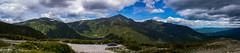 Mt-Washington-Truck-Panorama (hydra25) Tags: new hampshire newhampshire mountain summit panorama view sky clouds nature wilderness usa mtwashington landscape mountainside grass