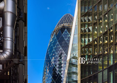 30 St Mary Axe - London, UK (davidgutierrez.co.uk) Tags: london photography davidgutierrezphotography city art architecture nikond810 nikon urban travel color night blue photographer tokyo paris bilbao hongkong snow uk londonphotographer building street colors colours colour europe beautiful cityscape davidgutierrez structure d810 contemporary arts architectural design buildings centrallondon england unitedkingdom 伦敦 londyn ロンドン 런던 лондон londres londra capital britain greatbritain tamronsp2470mmf28divcusdg2 2470mm tamron 30stmaryaxe thegherkin swissrebuilding skyscraper cityoflondon normanfoster bluesky daytime day thelloydsbuilding willisbuilding