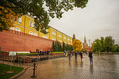 View of Moscow Kremlin Palace (phuong.sg@gmail.com) Tags: architecture authority autumn background brick building capital city clouds day dramatic famous fire firs flag history kremlin landmark lenin mausoleum moscow old palace people power president putin rain red residence russia russian sky spasskaya square standard star storm symbol tomb tour tower travel view wall weather