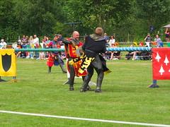 DSCF3804 (SierPinskiA) Tags: ruffordabbeycountrypark rufford knightsofnottingham fujixs1 jousting medieval horse knights goldeneagle falcon