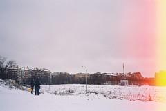 Winter ️❄️ (Manu Higueras) Tags: 35mm 35mmfilm 35mmphotography picoftheday photooftheday photo people spain winter snow sky filmisnotdead filmphotography filmfeed friends filmphotographer white kodak color olympusmju believeinfilm analogphotography building