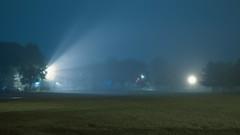 Winnemac Park (Jovan Jimenez) Tags: sony a6500 metabones speedbooster ultra samyang 24mm f14 ilce 6500 alpha landscape night fog winnemacpark chicago il focal reducer 16x9 widescreen cinematic street ravenswood mist grass tree blue focalreducer