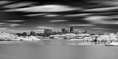 Kansas City, Missouri (Jon Dickson Photography) Tags: kansas city infrared bestinfraredphotos blackandwhite longexposure skyline bw