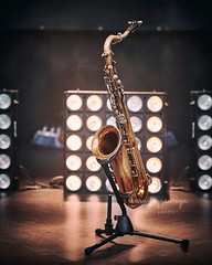 Sight for sore ears (Isuru Jayasuriya) Tags: music sax saxophone sound jazz closeup musical instrument gold stage stand