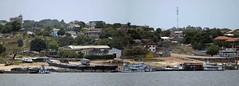 Amazon waterfront (D70) Tags: nikon d70 7503000 mm f4556 ƒ56 3000mm 12000 200 amazon waterfront santarem para brazil panorama ferry houses homes