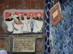 Adverse Weather Team (Glass Horse 2017) Tags: cleveland skinningrove mural ceramic mosaic tiles whitecliffeprimaryschool artist glynisjohnson flood 2000 local community adverseweatherteam text