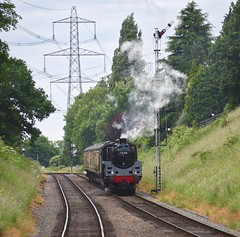 Great Central Railway Rothley Leicestershire 10th June 2018 (loose_grip_99) Tags: greatcentral railway railroad rail train gcr britishrailways standard steam engine locomotive preservation transportation gassteam uksteam trains railways rothley 5mt 460 73156 signal leicestershire eastmidlands england uk june 2018