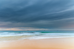 Soft Morning Seascape at the Beach (Merrillie) Tags: daybreak wamberalbeach sand sunrise sea centralcoast nature water morning surf overcast wamberal weather newsouthwales waves earlymorning nsw australia beach ocean landscape waterscape sky coastal clouds outdoors seascape dawn coast cloudy seaside