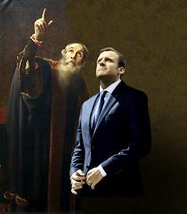 Galileu  &  Macron (jaci XIII) Tags: galileu emmanuelmacron pintura fotomontagem galileo photomontage painting