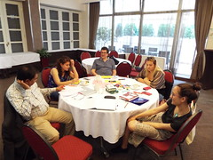 FFP Belgrade June 2018 (sean and nina) Tags: ffp foundations for peace belgrade beograd srbija serbia serbian event training strategic communications workshop tables chairs indoor inside people persons candid learning tutor male female expressions post it notes india palestine ireland june 2018 summer balkans balkan presentations work working study