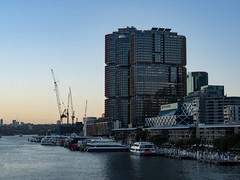 Barangaroo (Daveography.ca) Tags: darlingharbour constructioncranes barangaroo towers australia constructioncrane city internationaltowers sydney water boats nsw harbor skyscraper buildings urban highrise construction darlingharbor building newsouthwales bay architecture boat sunset skyline harbour dusk pyrmont pyrmontbridge