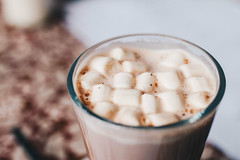 Hot chocolate with marshmallows on top. Close up (wuestenigel) Tags: glass dessert winter mug sweet breakfast liquid brown background holiday marshmallow food candy decoration isolated cocoa white chocolate cup comfort aroma marshmallows christmas tasty coffee drink vintage delicious gourmet hot cinnamon caramel space beverage milk cacao cream rustic traditional