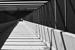 Back to shadows - City (Ladistorta) Tags: tunnel metropolitan city street cityscape bn bw blackandwhite biancoenero rome urban walk shadows lines